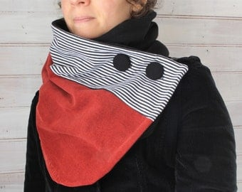 Scarf, Neck warmer, winter scarf, women scarf, upcycled clothing, zel ecodesign