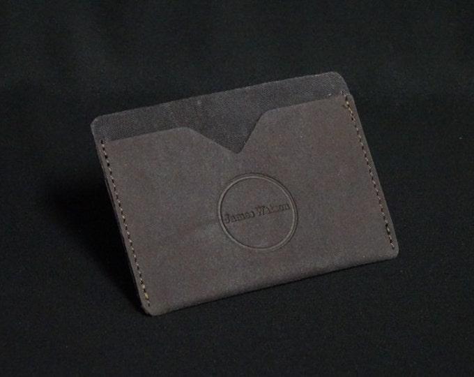 Pocket Wallet - Earth - Kangaroo leather with RFID credit card blocking - Handmade - James Watson