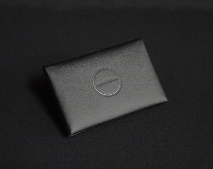 Bantam6 Wallet - Black - Kangaroo leather with RFID credit card blocking - Handmade - James Watson