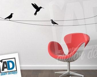 Wall sticker R-018 birds