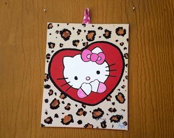 Hello Kitty Leopard Painting