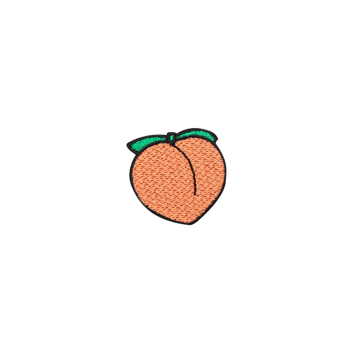 PEACH EMBROIDERED PATCH iron on badge gift tumblr hipster