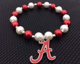 Beautiful Alabama Crimson Tide Bracelet