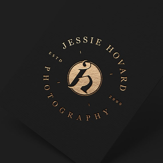 OOAK Logo, Photographers Logo, Custom Logo for Photographer, Business Stamp Logo, Glitter Gold Logo, Elegant Logo, Logo Luxe, Circle Logo