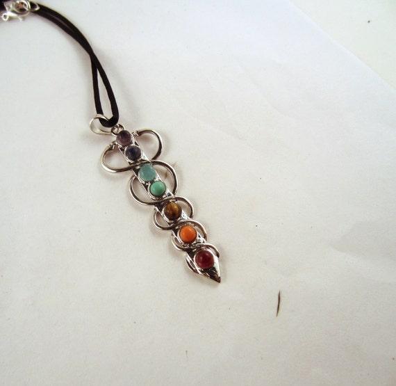 Chakra Necklace Crystal Pendant, Stone Jewelry
