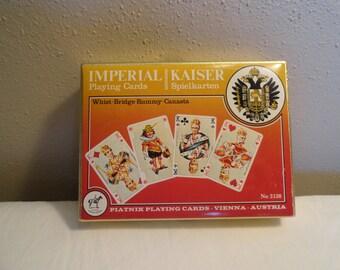 Piatnik Playing Cards Kiser Spielkarten Number 2138 Vienna Austria