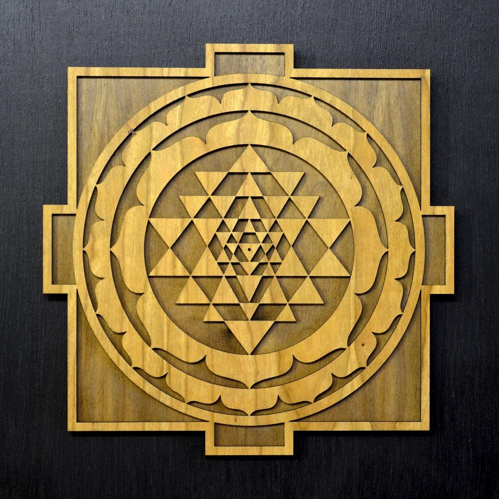Sri Yantra Mandala Wall Art - Sacred Geometry Laser Cut Art ...