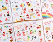 Cute stickers 'my little friend special version' | Cute Stationery