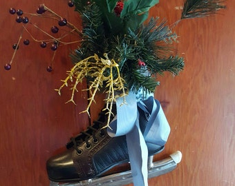 Child's vintage decorated ice skate