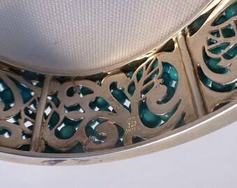 Whitney Kelley Sterling & Turquoise Beaded Hinged Bracelet