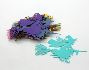 Halloween witches: lot of cut die - cut