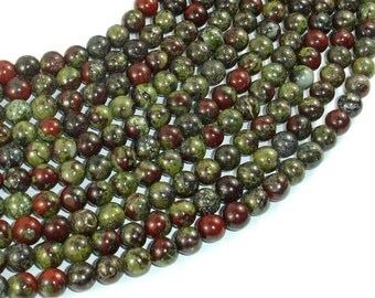 Dragon Blood Jasper, 6mm(6.5mm) Round Beads, 15.5 Inch, Full strand, Approx 62 beads, Hole 1mm, A quality (495054005)