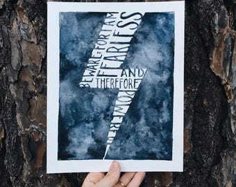 Mary Shelley Fearless Print