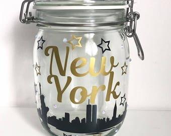 New York Holiday Vacation Savings Money Jar Bank