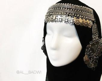 Balqees — Yemeni inspired Headpiece, headchain, crown, tiara, tribal