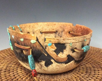 Unique gas Fired Horsehair Yarn Bowl