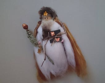 Copper Wizard - Wool Felt Wizard. Hand Crafted, one of a kind, Mage of Copper