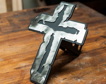 The Rugged Cross - Trailer Hitch Cover