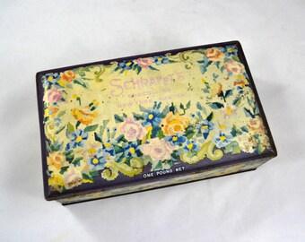Vintage Chocolate Tin, Schrafft's Chocolate Box