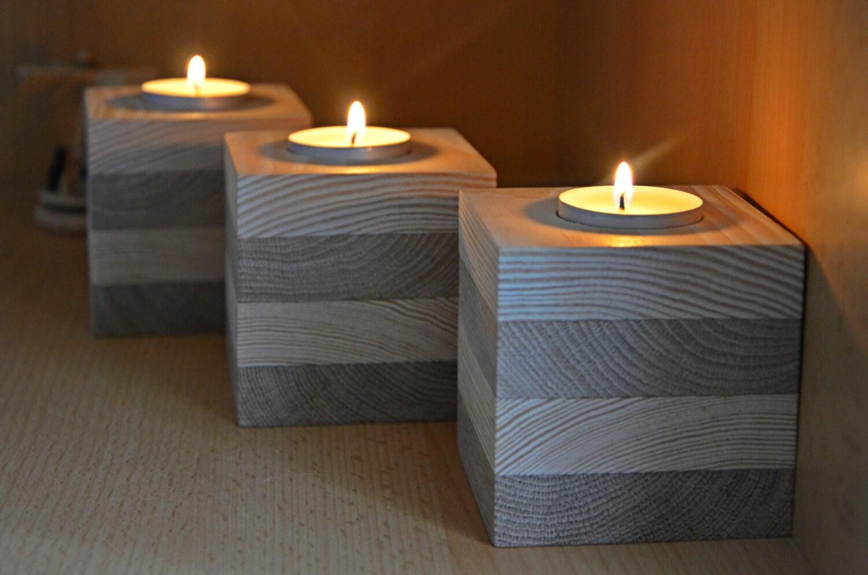 Wood candle holder set of 3 unfinished wood tealight - Unfinished wood candlestick holders ...