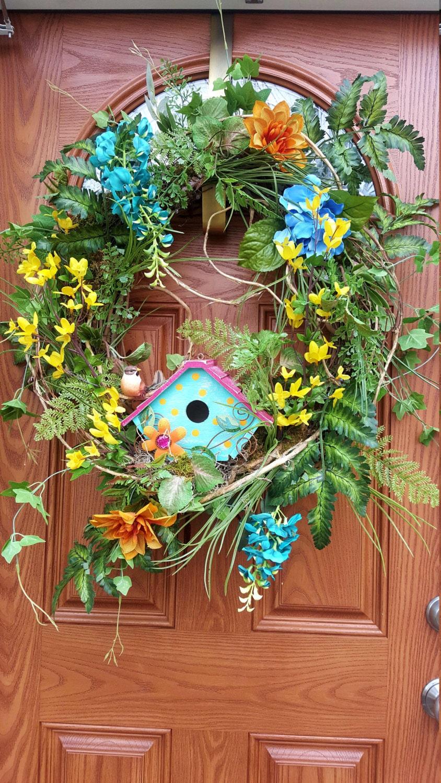 Front Door Wreath Spring Summer Wreath Outdoor Wreath