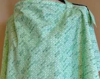 Nursing cover / Breastfeeding cover / Mint arrows nursing cover up
