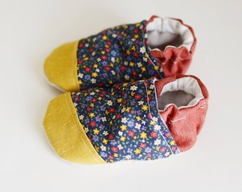 Floral Primary Soft Sole Baby Shoe Moccasin