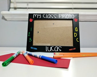 Teacher Gift - Class Photo - Kindergarten - Pre-school Class - Grade 1 Class - School Photo - Picture Frame - Children's photo frame