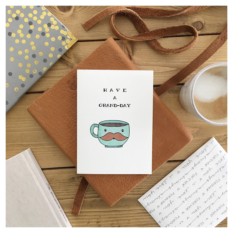 COFFEE CARD coffee coffee pun grande cute card birthday – Funny Birthday Card Puns