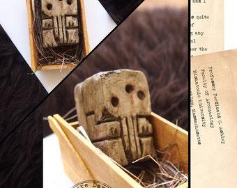 Cthulhu Clay Idol & Letter