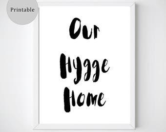 Hygge Print, Hygge Decor, Nordic Wall Print, Nordic Printable, Scandinavian Print, Nordic Print Art, Hygge Wall Art, Danish Modern,