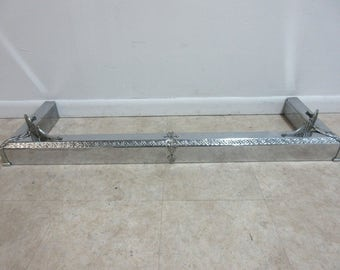 Vintage French Regency Chrome Fireplace Mantle Bumper