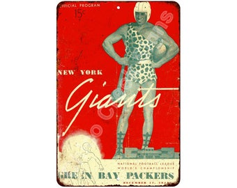 1944 Green Bay Packers vs NY Giants Vintage Look Reproduction 8x12 Sign 8120878