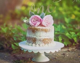 Blush Pink Rose Cake Topper- Paper Rose, Wedding Cake Paper Flower, Bridal Shower Cake Topper, Baby Shower, Birthday Floral Cake Topper