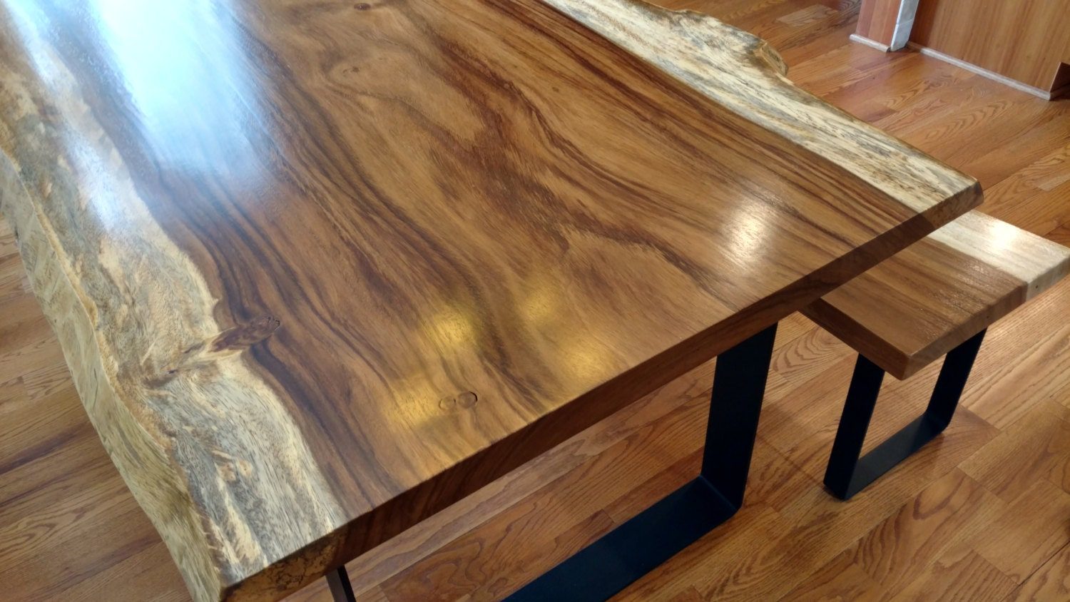 Live Edge Guanacaste Dining Tables By Mericanrusticllc On Etsy