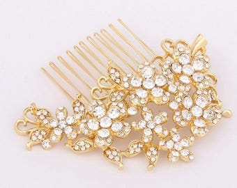 Bridal Hair Comb, Gold Wedding Hair Comb, Wedding Hair Accessories, Wedding Headpiece, Bridal Headpiece, Gold Bridal Hair Pieces for Wedding