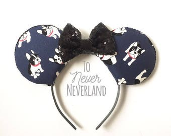 Mickey Mouse Ears, French Bulldog Ears, Dog Ears, Mickey Ears Headband,Dog Mickey Ears, French Bulldog Mickey Ears, Dog Lovers Mickey Ears