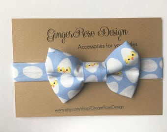 Easter Bow Tie; Chick Bow Tie; Egg Toddler Bow Tie; Pastel Blue Boy Bow Tie; Baby Bow Tie; Adjustable Bow Tie; Toddler Bow Tie