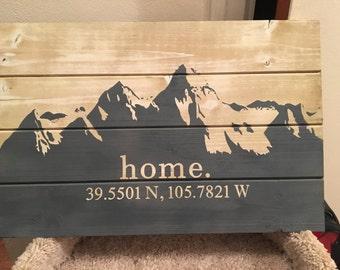 Mountain Range Decor Sign