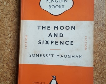 Moon and Sixpence / Somerset Maugham / Penguin Paperback Book 1952 / Classic Vintage Books