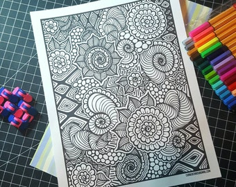 Coloring Book Page #2 - Digital Download
