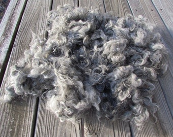 Light Silver Grey Gotland Locks wool - 2 oz.