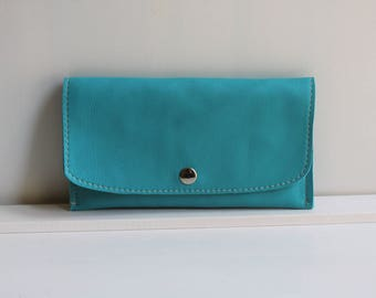 15% OFF Turquoise Leather Wallet for Women, Wallets for Women, Cool Wallets Genuine Leather