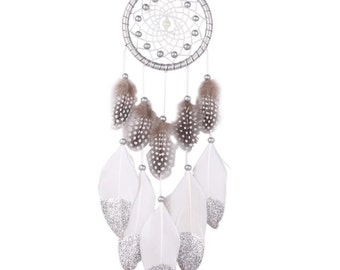Beautiful silver and white dream catcher