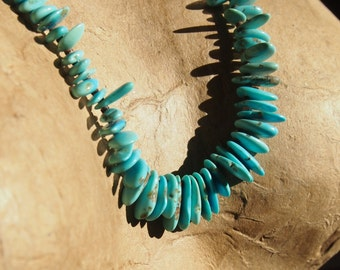 Native American Taos Pueblo Turquoise Heishi Necklace