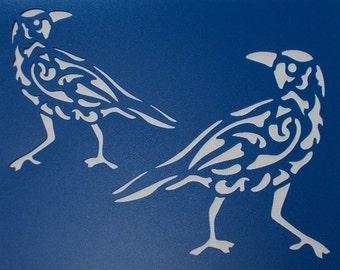 Crow Flourish Stencil