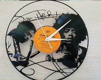 Jimi Hendrix Vinyl Record Clock