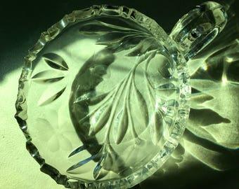 Stunning sawtooth edge crystal bowl