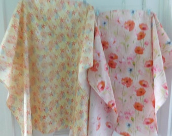 "MOMMY NURSING COVER Ups  --  4 designs to choose from  35 1/2"" Wide  X 25 3/4"" long"