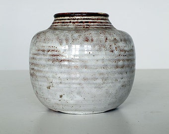 Vase by Mobach, handmade, Dutch pottery, 1920-1950